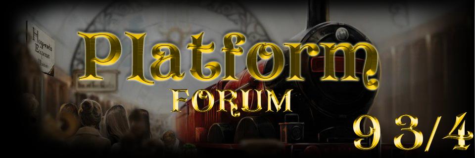 Platform 9 3l4- Harry Potter Fan Forum Index du Forum