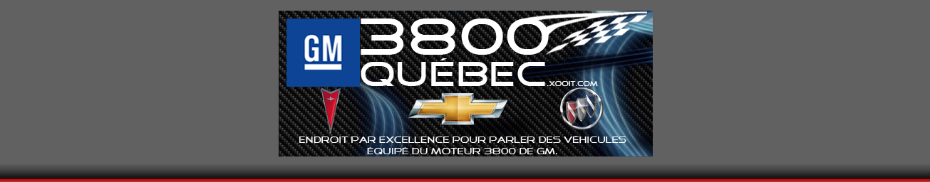 Bienvenue sur GM3800Québec Index du Forum